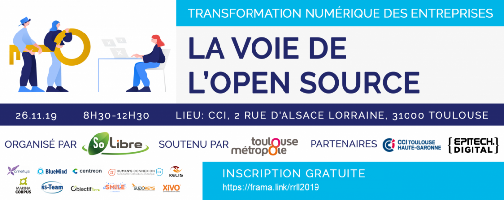 Logos des organisateurs des RRLL 2019 à Toulouse